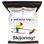 Fueled by Skijoring King Duvet