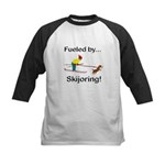 Fueled by Skijoring Kids Baseball Jersey