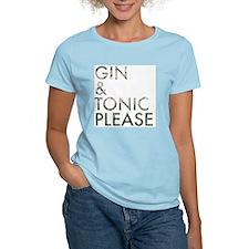 gin  tonic please T-Shirt