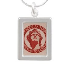 dionysus-temple-BUT Silver Portrait Necklace