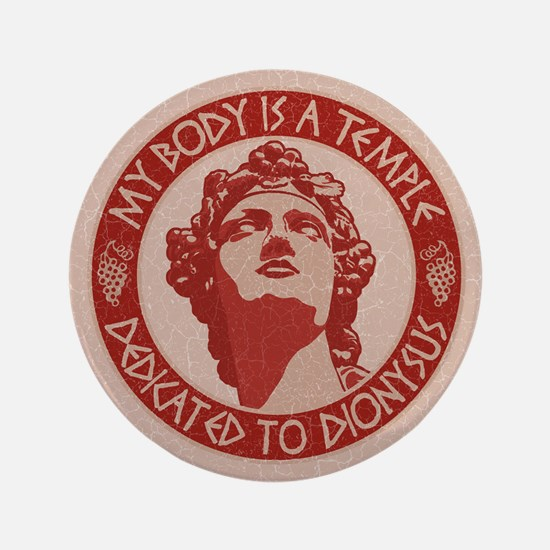 """dionysus-temple-BUT 3.5"""" Button"""