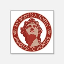 """dionysus-temple-T Square Sticker 3"""" x 3"""""""