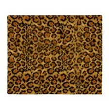 Graphic Jaguar Animal Print Throw Blanket