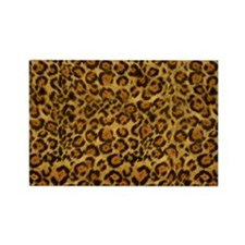 Graphic Jaguar Animal Print Rectangle Magnet
