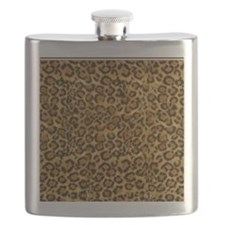 Graphic Jaguar Animal Print Flask