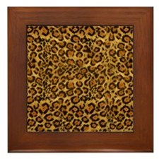 Graphic Jaguar Animal Print Framed Tile