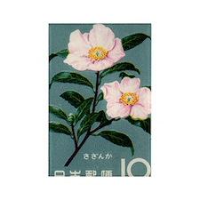 Vintage 1961 Camellia Sasanqua Po Rectangle Magnet