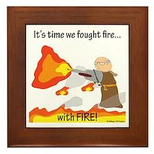 Bro Flamethrower Framed Tile