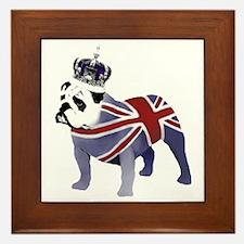English Bulldog and Crown Framed Tile