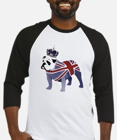 English Bulldog and Crown Baseball Jersey
