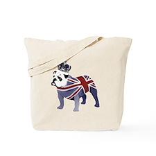 English Bulldog and Crown Tote Bag