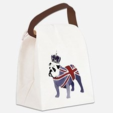 English Bulldog and Crown Canvas Lunch Bag