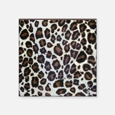 "Leopard Animal Print Square Sticker 3"" x 3"""