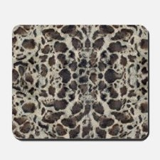 Snow Leopard Animal Print Mousepad