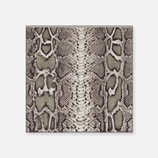 "Snakeskin Animal Print Square Sticker 3"" x 3"""