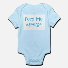 'Feed Me!' (blue letters) Infant Bodysuit/Creeper