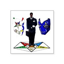 "masonoes Square Sticker 3"" x 3"""