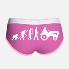 evolution of man farmer with a t Women's Boy Brief