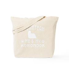 Komondor Dog Designs Tote Bag