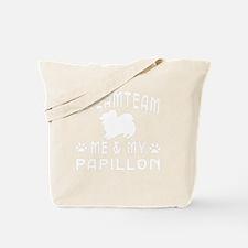 Papillon Dog Designs Tote Bag