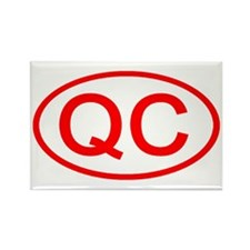 QC Oval (Red) Rectangle Magnet