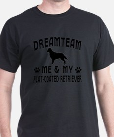Flat Coated Retriever Dog designs T-Shirt