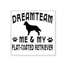 "Flat Coated Retriever Dog d Square Sticker 3"" x 3"""
