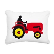 farmer with a tractor Rectangular Canvas Pillow