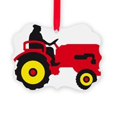 farmer with a tractor Ornament