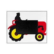 farmer with a tractor Picture Frame