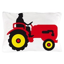 farmer with a tractor Pillow Case