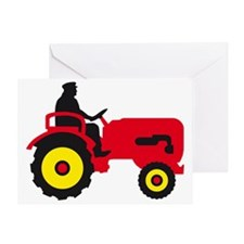 farmer with a tractor Greeting Card
