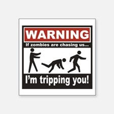 "Zombie Trip Square Sticker 3"" x 3"""