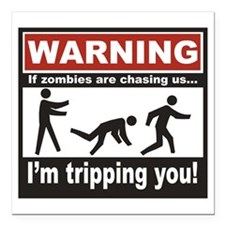 "Zombie Trip Square Car Magnet 3"" x 3"""