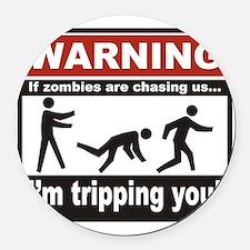 Zombie Trip Round Car Magnet