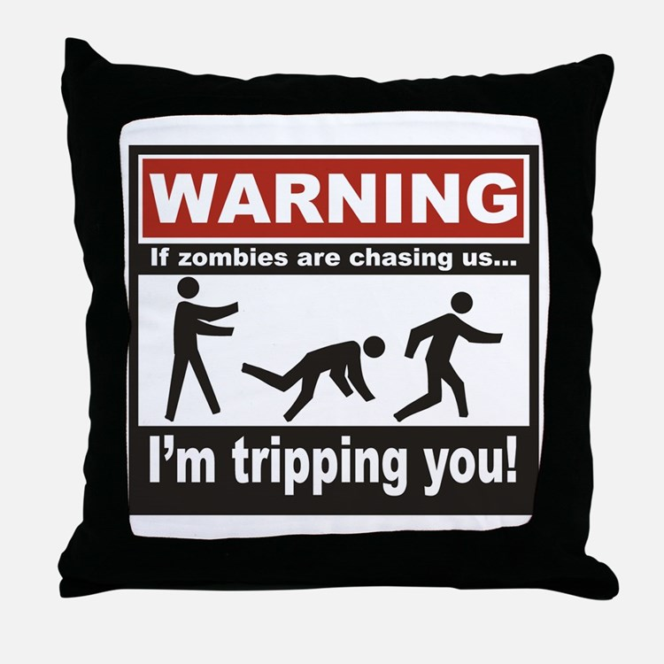 Zombie Trip Throw Pillow