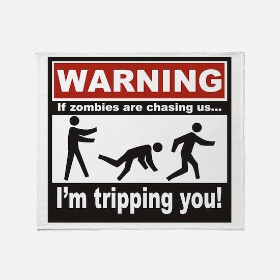Zombie Trip Throw Blanket