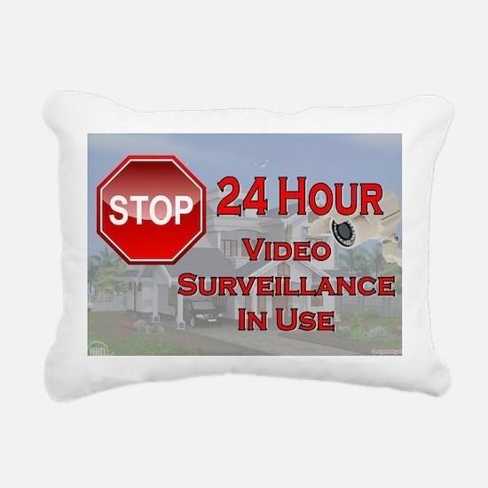 Stop - Video Surveillanc Rectangular Canvas Pillow