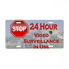 Stop - Video Surveillance Aluminum License Plate