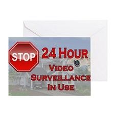 Stop - Video Surveillance Greeting Card
