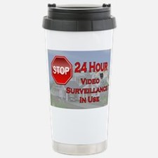 Stop - Video Surveillan Stainless Steel Travel Mug