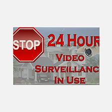 Stop - Video Surveillance Rectangle Magnet