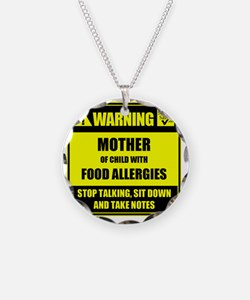 WARNING- MOTHER! Necklace Circle Charm