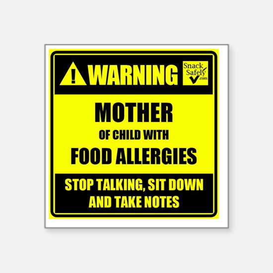 """WARNING- MOTHER! Square Sticker 3"""" x 3"""""""