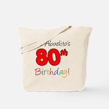 Abuelitos 80th Birthday Tote Bag