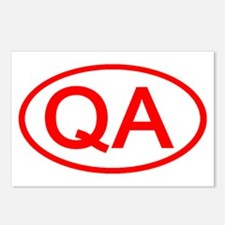 QA Oval (Red) Postcards (Package of 8)