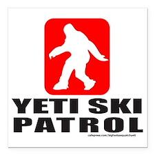"YETI SKI PATROL T-SHIRTS Square Car Magnet 3"" x 3"""