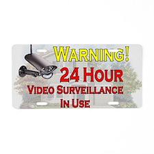 Warning - Video Surveillanc Aluminum License Plate