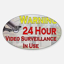 Warning - Video Surveillance Sticker (Oval)