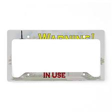 Warning - Video Surveillance License Plate Holder